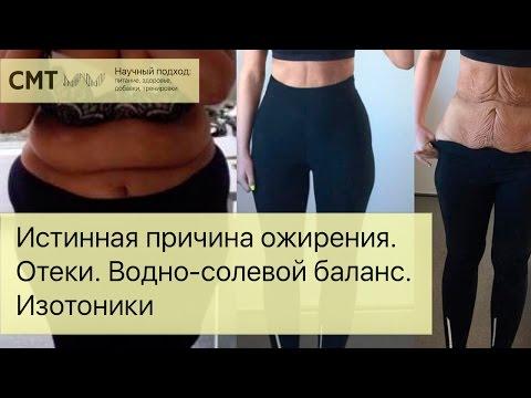 видео: Истинная причина ожирения. Отеки. Водно-солевой баланс. Изотоники