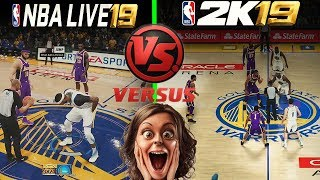 ARE YOU SERIOUS!! NBA Live 19 Gameplay vs NBA 2k19 Gameplay YOU
