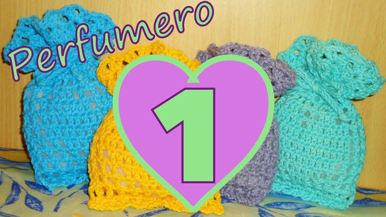 Cómo tejer un perfumero corazón 1° parte (filet crochet perfume ...