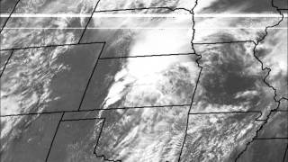 April 14 2012 Tornado Outbreak Satellite Loop