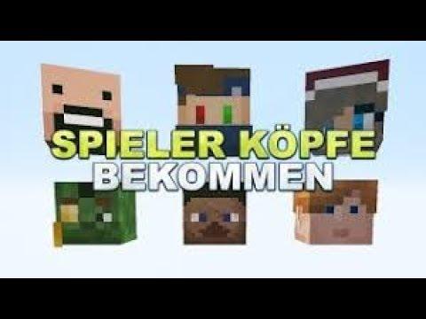 Minecraft SpielerSkin Köpfe Ohne Mods Bekommen Tutorial Deutsch - Minecraft spielerkopfe erstellen