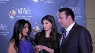 2014 Arpa Film Festival Red Carpet with actors Anahid Avanesian & Vahik Pirhamzei