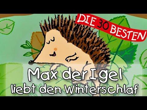 Max, der Igel, liebt den Winterschlaf - Winterlieder zum Mitsingen || Kinderlieder