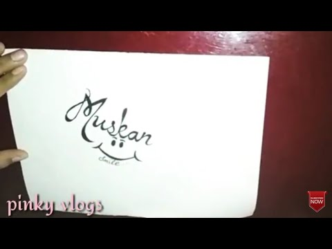 muskan name easy tattoo design subscribe request pinky vlogs