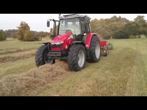 Massey Ferguson 5610 and 1840 baling
