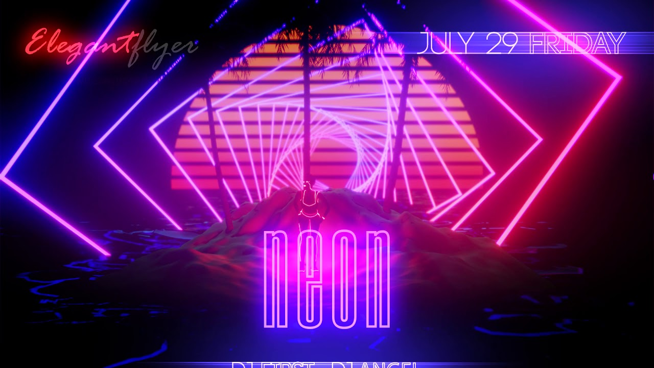 neon party after effects template hd youtube. Black Bedroom Furniture Sets. Home Design Ideas