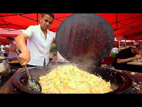 Muslim Chinese Street Food In Shanghai!! HALAL XINJIANG Market Street Food In CHINA!