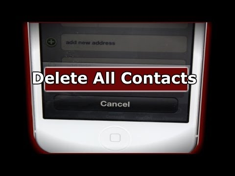 How do i delete all my contacts in my iphone