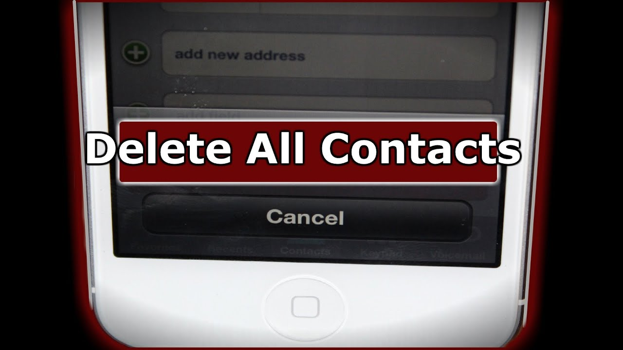 how to erase iphone 5 how to delete all iphone contacts the easy way shown on 5786