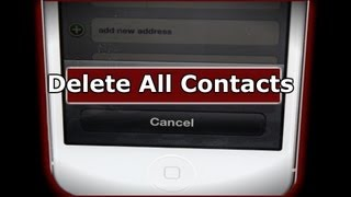 How To Delete All iPhone Contacts The Easy Way - Shown On The iPhone 5