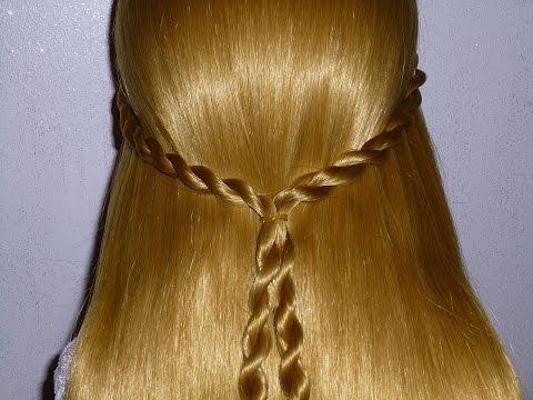 Простая причёска самой себе на каждый день в школу за 5 минут, для средних/длинных волос