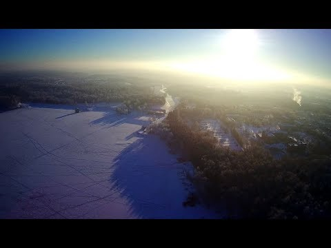 Мороз. Истринское водохранилище. Hubsan H501s Pro.