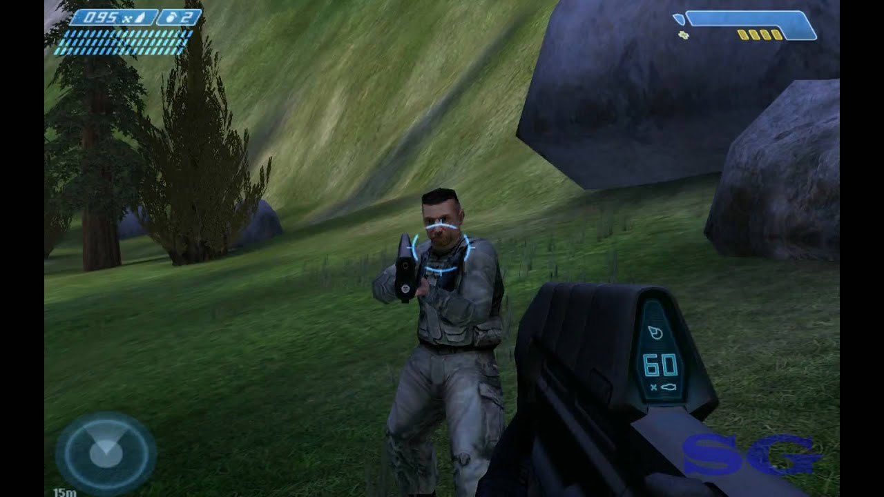Halo 1, in all it's glory looking at an NPC