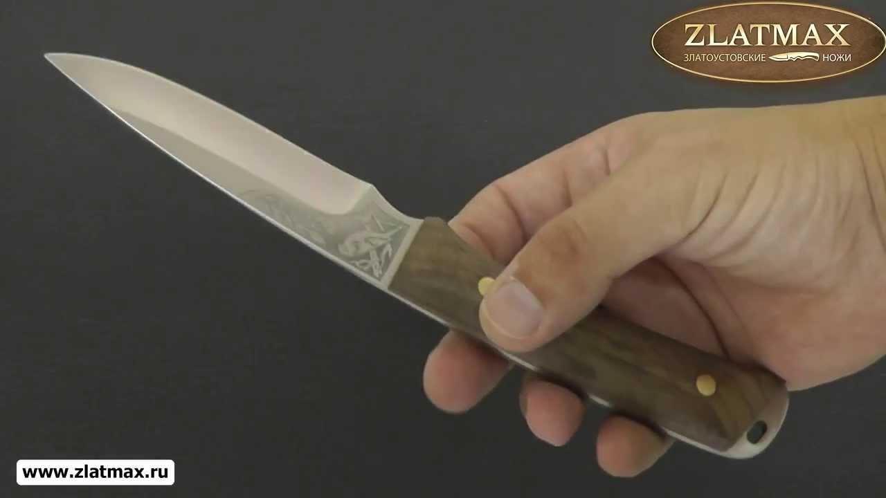 Видео Нож Снегирь (95Х18, Накладки карельская береза)