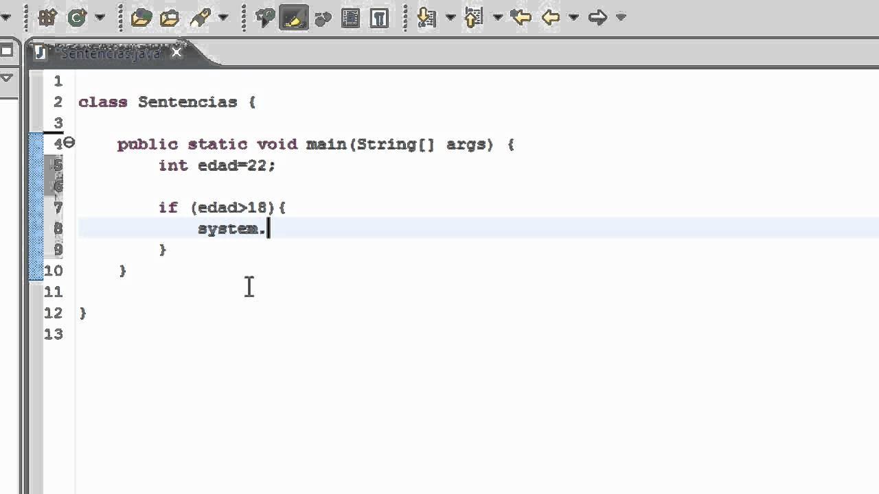 Programacion En Java Tutorial En Español 7 Sentencia If Else