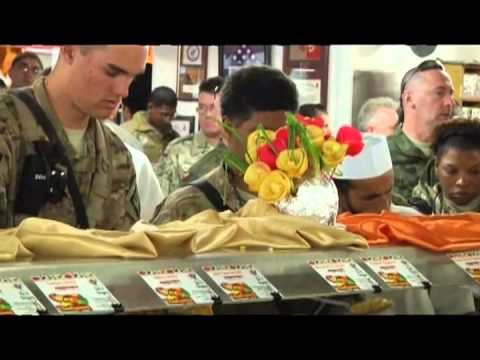 Soldier Celebrates Thanksgiving at Bagram Airfield Lifeliner's Koele Dining Facility