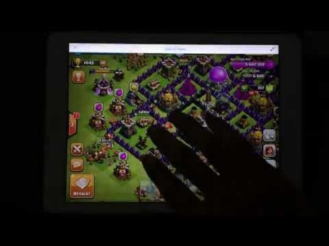iPad Air - iOS 7 - Multi Window - Multi Tasking -  Clash of Clans