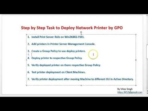 How to Deploy/Install Network Printer By Using Group Policy (GPO)