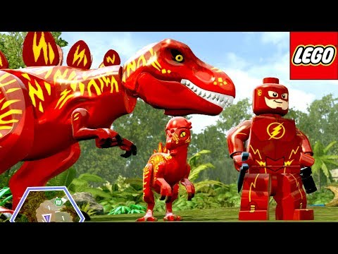 O DINOSSAURO DO FLASH (MOD) no LEGO Jurassic World EXTRAS MUNDO ABERTO #32