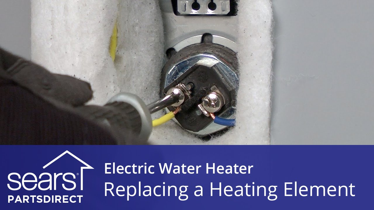 How to Replace an Electric Water Heater Heating Element Ge Model Ge M A Water Heater Wiring Diagram on