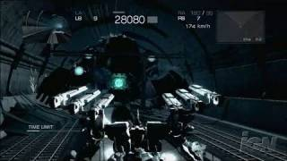Armored Core 4 Xbox 360 Gameplay - Tunnel Fight (HD)