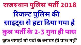 Rajasthan police vacancy 2018 latest result , raj police constable vacancy 2018 result news , 5 guna