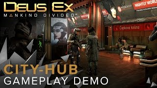 Video originally uploaded on June 8th 2016 This is a reupload Get your first glimpse at the cityhub of Prague in Deus Ex Mankind Divided an expansive and