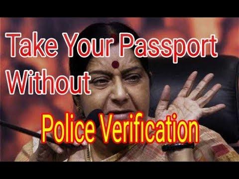 Take your passport without police verification, Sushma Swaraj Twit this good news