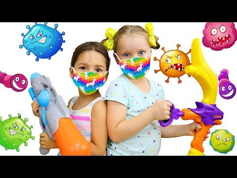 Милли и Ева играют в активные игры | Забавная история для детей про микробы