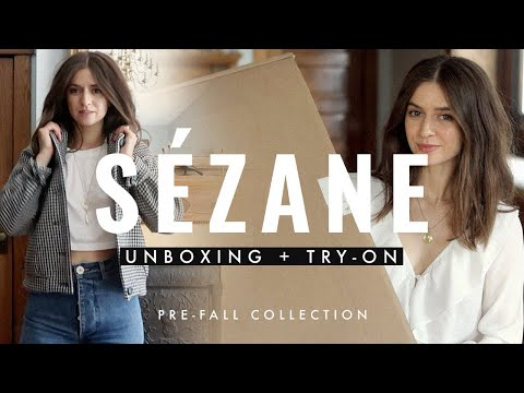 Sezane Unboxing + Try-on! Pre-Fall 2019