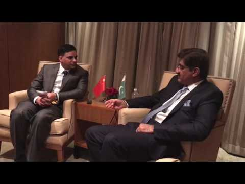 Sindh CM SYED MURAD ALI SHAH an interview to CHINA Radio (sot 3)
