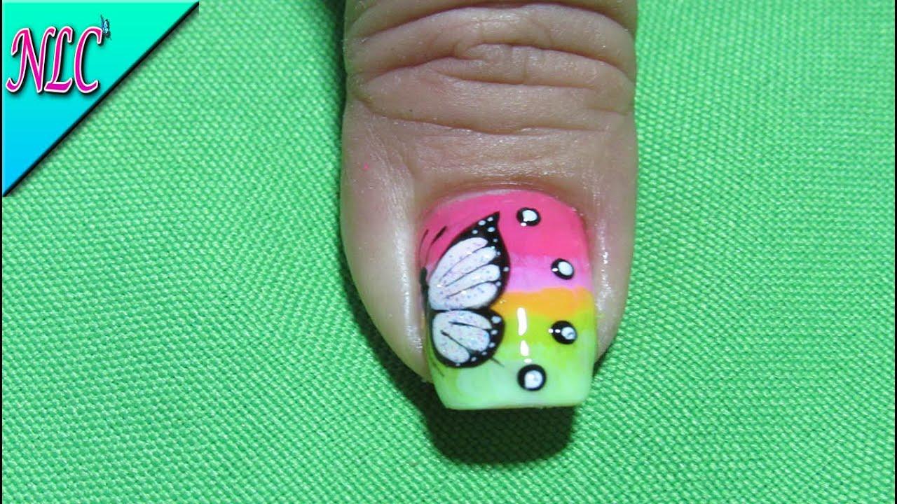 Vistoso Diseños De Uñas Del Dedo Del Pie De La Mariposa Bosquejo ...