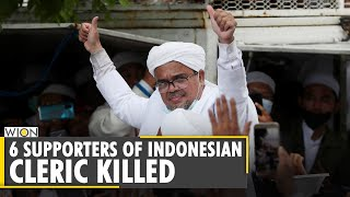Six supporters of hard line indonesian islamic cleric rizieq shihab are killed in a police shootout near jakarta. was scheduled to appear for q...
