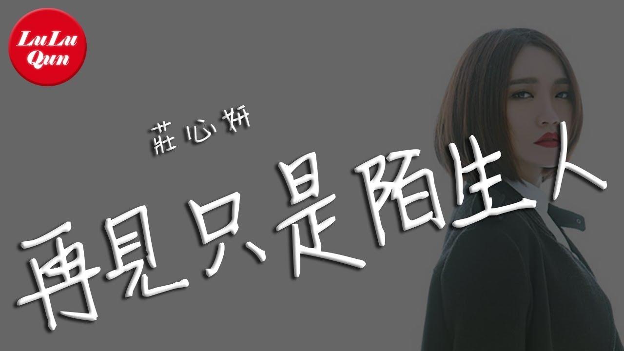 抖音《再見只是陌生人》莊心妍【動態歌詞Lyrics】 - YouTube