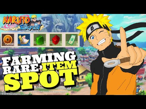HUNTING RARE ITEM - NARUTO SLUGFEST mmorpg Open World ( Android ) - 동영상