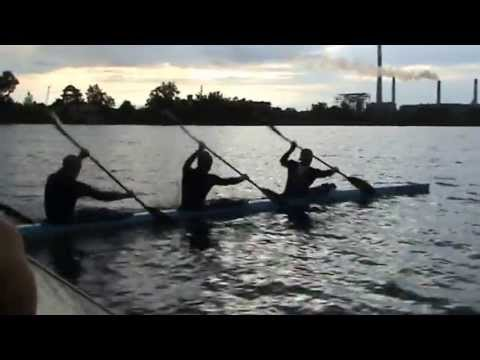 Flatwater Kayak Training In Dobrotvir. K-4(3)