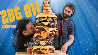 200k Custom Burger Tower - Epic Meal Time