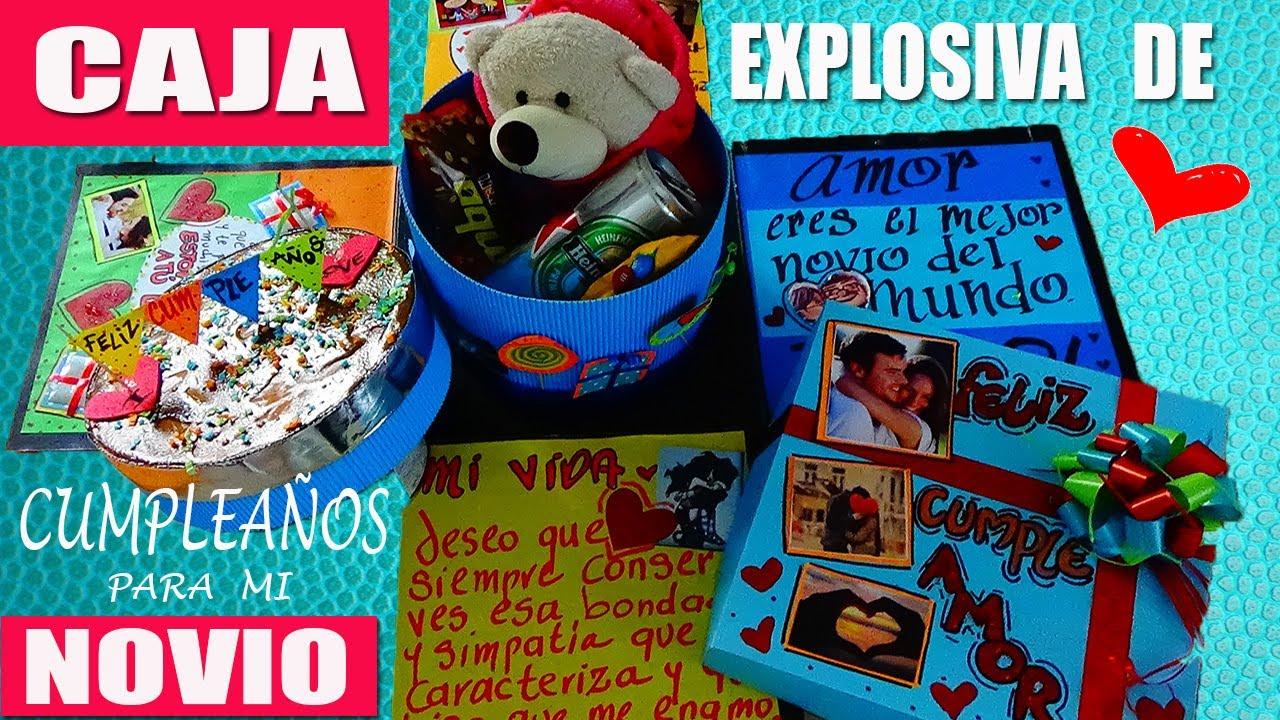 Caja Explosiva de Cumpleaños para mi Novio a Creaciones Betina YouTube