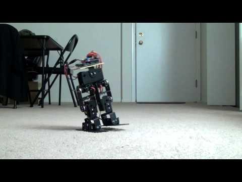 6 servo walking robot - biped robot