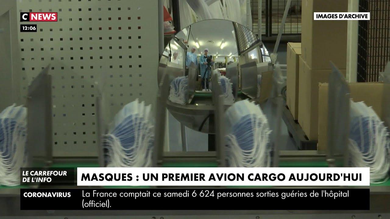 Masques : un premier avion cargo arrivera ce dimanche en France