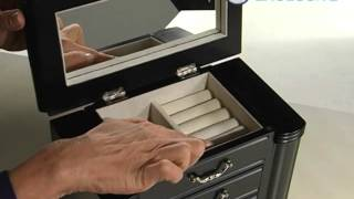 Greta Black Wooden Jewelry Box 10 5w X 9 5h In - Product Review Video
