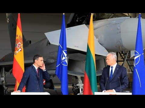 Eurofighter Typhoons Scrambled to Intercept Russian Jets During NATO Press Conference in Lithuania