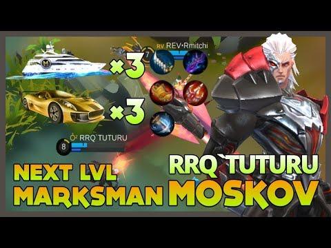 RRQ'Tuturu 'The Next Level Marksman' Playing Moskov Got Gift 3 Yacht & 3 Roadster ~ Mobile Legends
