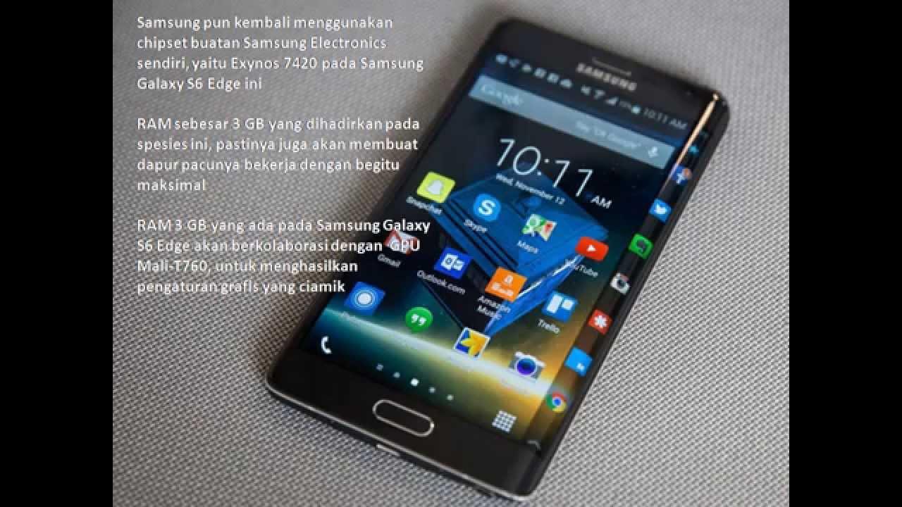 Spesifikasi Dan Harga Samsung Galaxy S6 Edge Youtube