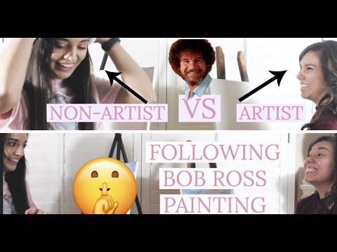 FOLLOWING A BOB ROSS TUTORIAL ARTIST VS NON-ARTIST