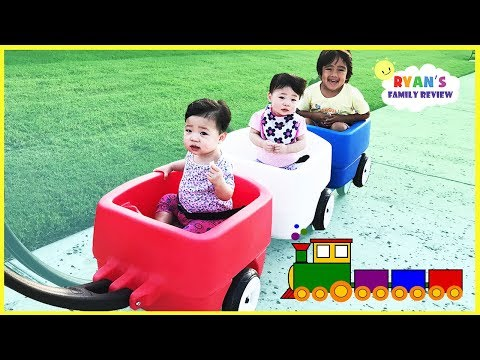 Kids Take Step 2 Choo Choo Triple Wagon to Outdoor Playground with Ryan's Family Review
