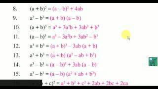 Álgebra ¿cuál es la clave para la fórmula o fórmulas Importantes del álgebra |