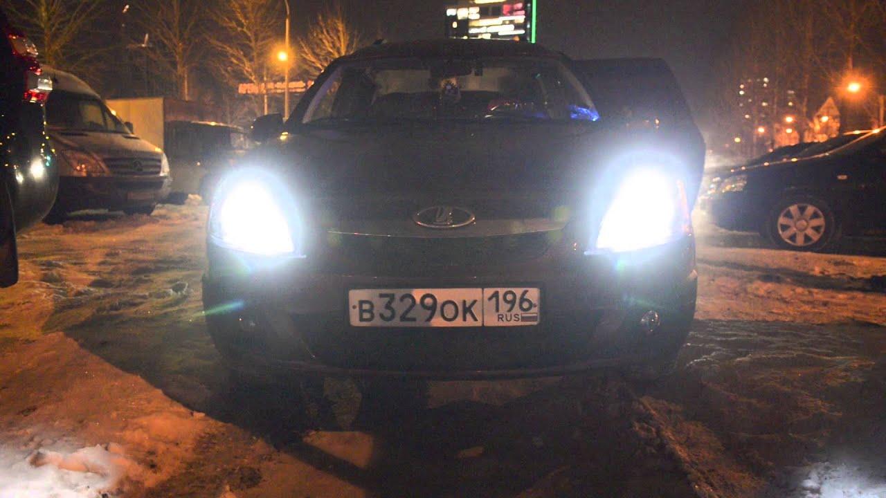 Как установить LED лампы W5W T10 в Габариты на Mercedes W211 / LED .