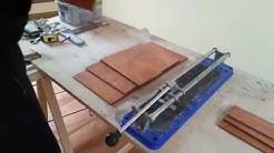 How to Cut Porcelain Ceramic Tiles - Make Baseboard Tiles (Great Tip)