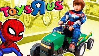 Visita a Toysrus con SPIDERMAN Y CAPITAN AMERICA!!